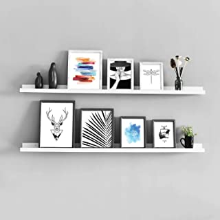 WELLAND Vista Photo Ledge Picture Display Wall Shelf Gallery (48-inch, White)