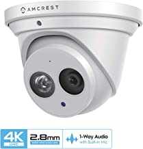 Amcrest UltraHD 4K (8MP) Outdoor Security IP Turret PoE...