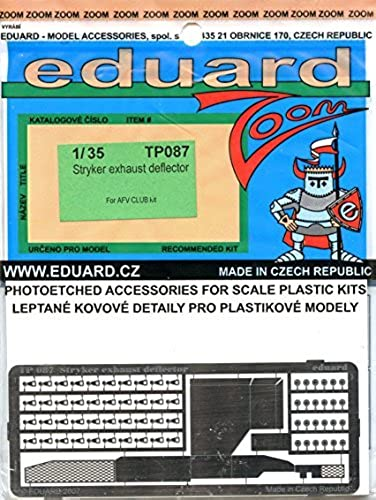Eduard 1 35 Stryker Exhaust Deflector Photo Etch Set for AFV Club Kit  TP087 by Eduard
