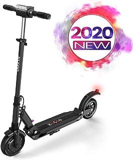 Scooter eléctrico plegable 350W Motor Pantalla LCD de pantalla 3 modos de velocidad 8 pulgadas sólido neumático trasero 18 Miles de largo alcance adultos scooter con luz LED y plegable Manillar-S1, co