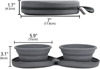 FurryFriends Collapsible Travel Dog Bowls with Case for Food & Water. Ideal for Pets and Cats