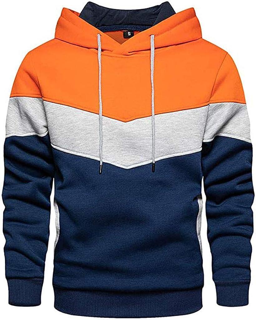 Hoodies for Men Hooded Sweatshirt for Men Pullover Hoodie Sweatshirt Pure Hooded Drawstring Tops