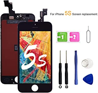 VANYUST for iPhone 5S/5SE Screen Replacement, LCD Display Touch Screen Digitizer Assembly with Tool Kits Compatible for iPhone 5S/5SE Black