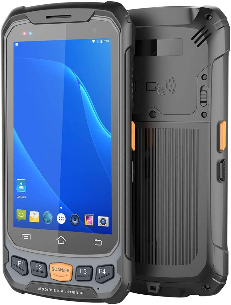 Escáner De Mano 2D Código De Barras Con Android 7.0 OS, Pantalla Táctil 4.7In ISP, 3G 4G Wifi BT GPS Terminal Móvil Inalámbrico, 2 GB De RAM + 16 GB De ROM, Para Supermarket Almacén