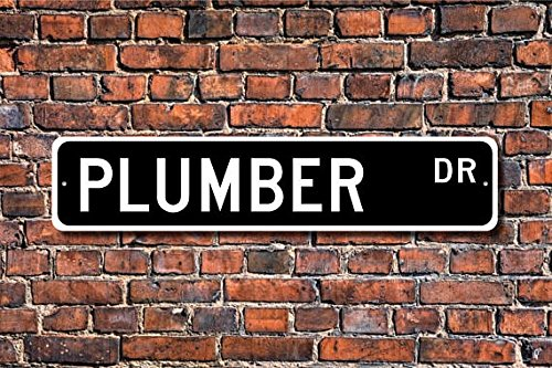 Fhdang Decor Plumber, Plumber Gift, Plumber Sign, Plumbing Contractor, Leaky faucets, Plumbing Problems, Custom Street Sign,Quality Metal Sign