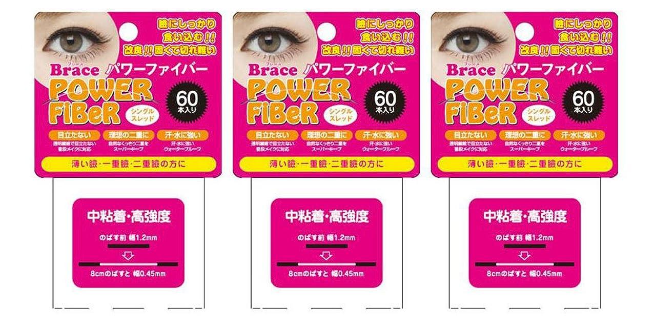 二ペフ受け継ぐBrace ブレース パワーファイバー クリア 1.2mm (眼瞼下垂防止用テープ) 3個セット シングルスレッド