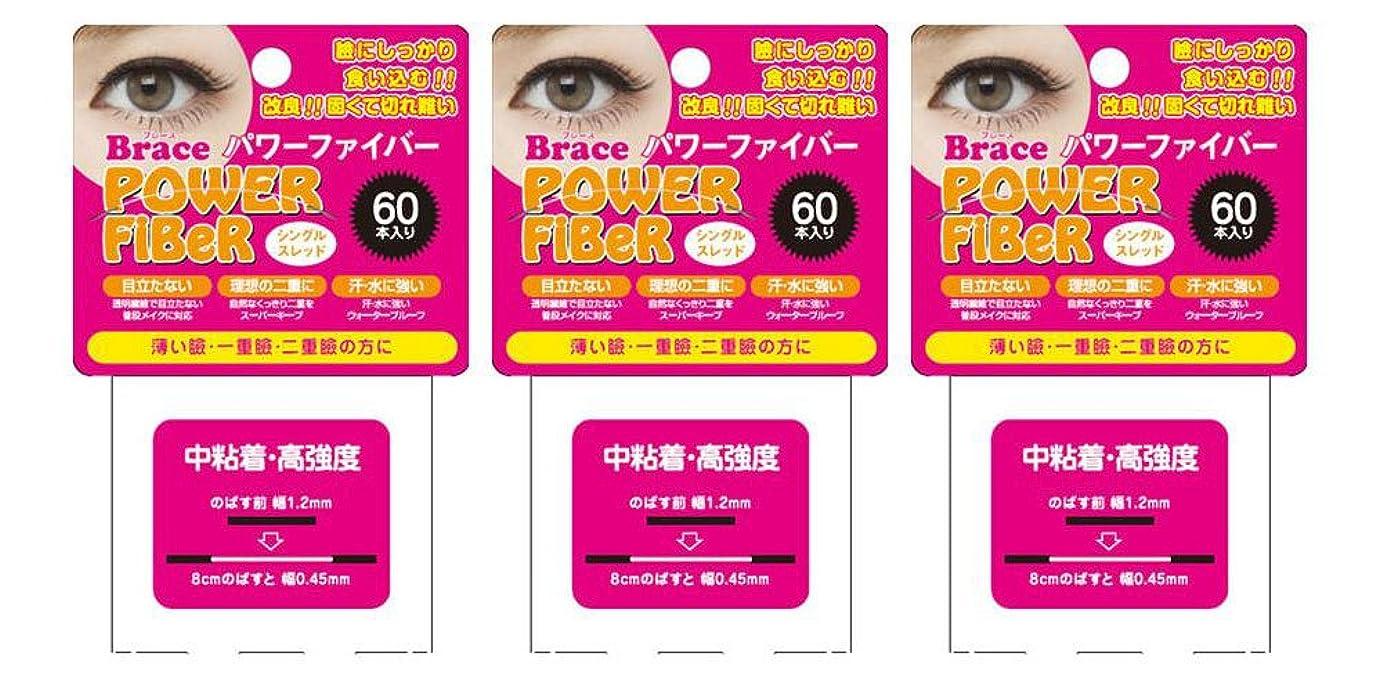 接尾辞良心お金ゴムBrace ブレース パワーファイバー クリア 1.2mm (眼瞼下垂防止用テープ) 3個セット シングルスレッド