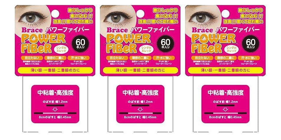 グラス感心する衝動Brace ブレース パワーファイバー クリア 1.2mm (眼瞼下垂防止用テープ) 3個セット シングルスレッド
