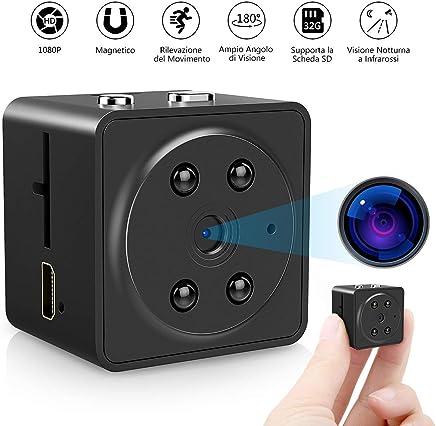 VicTsing Microcamere Spia, 1080P Full HD Spy Telecamera Nascosta con Microfono Incorporato, Videocamera Sorveglianza con IR Visione Notturna, Rilevazione del Movimento, Videoregistratore Portatile