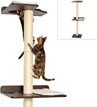 PetFusion Ultimate Cat Climbing Tower & Activity Tree. (Tall sisal Scratching Posts, Modern Wall Mounted cat Furniture, Espresso Finish). 1 Year Warranty for Manufacturer Defects