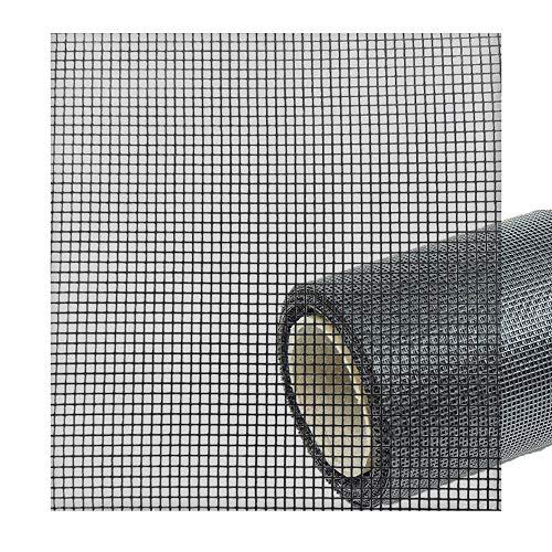 2,49€/m² Fliegengitter Netz Meterware Ersatzteil Zubehör - Fiberglas Gaze Gewebe Draht Insektenschutz u. Fliegenfenster Rolle Schwarz für Insektenschutznetz Fliegennetz 55% 140cm