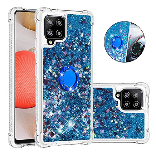 Funda para Samsung Galaxy A42 5G, con hebilla de anillo, silicona transparente, personalizable, a prueba de golpes, para Galaxy A42 [protección contra caídas, antideslizante]-7