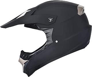 X4 ATV Off-Road Quad MX Motocross Dirt Bike Mountain Helmet for Adult Men Women Matt Black (M)
