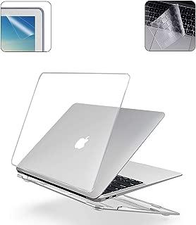 i-Buy Funda Dura para MacBook Air 13 Pulgadas(Model A1932 2018.11) con Retina Display y Touch ID + TPU Skins para Teclado + Filtros de Pantalla, Cristal Claro