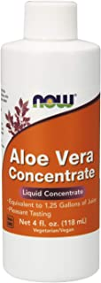 NOW Aloe Vera Concentrate, 4-Ounces (Pack of 3)
