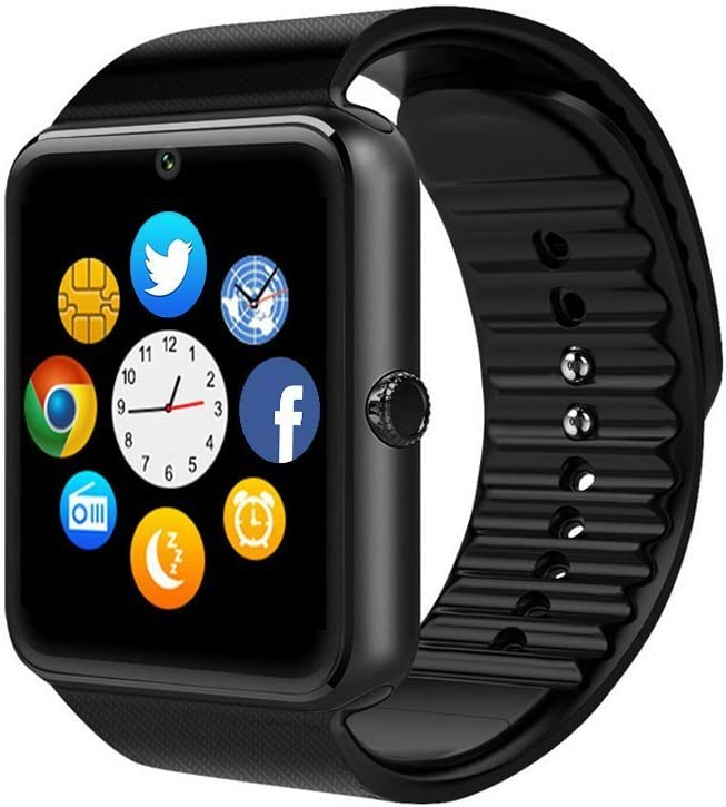 KUCEl Reloj Inteligente Bluetooth TKSTAR GT08 es Compatible con El Teléfono con Tarjeta SIM y TF.