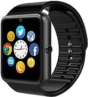 Smartwatch GT08 Relógio Inteligente Bluetooth Gear Chip Android iOS Touch Faz e atende ligações SMS Pedômetro Câmera - PRETO