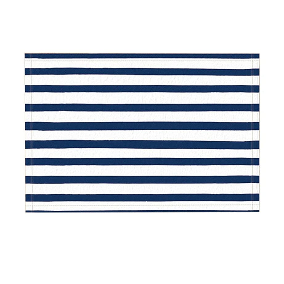 干ばつ経験科学Assanu 新鮮な自然な航海ストライプネイビーホワイトパターン装飾ルーム装飾ホームディスプレイ出入り口浴室歓迎浴室リビングルーム絶妙な滑り止めカーペット