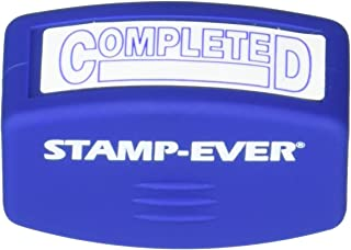 Stamp-Ever Pre-Inked Message Stamp, Completed, Stamp Impression Size: 9/16 x 1-11/16 Inches, Blue (5943)