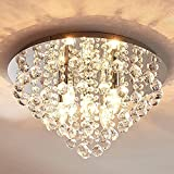 Lindby Kristall Look Deckenleuchte Metall Acryl   Deckenlampe rund 5 flammig   5x E14 max. 40W  ...