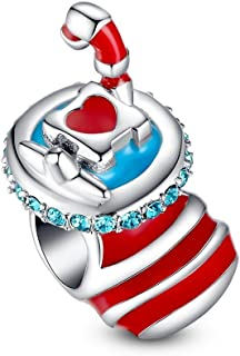 Christmas Series Charms Sterling Silver Holiday Beads for Women