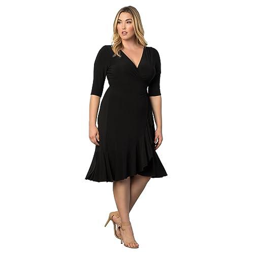 b41c3e79807 Kiyonna Women s Plus Size Whimsy Wrap Dress