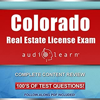 Colorado Real Estate License Exam AudioLearn audiobook cover art
