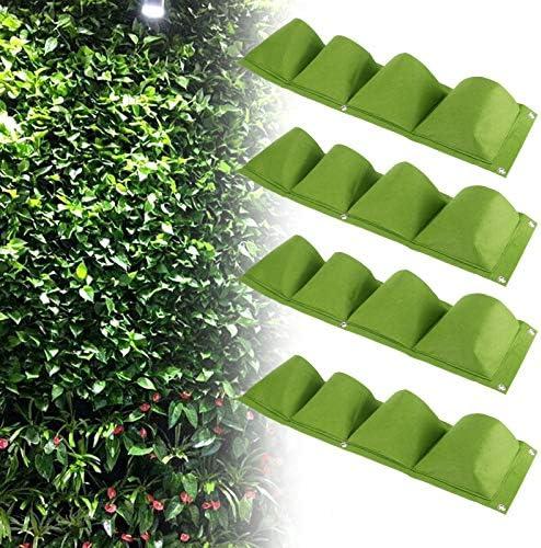 Wandhangtas afbreekbaar Milieuvriendelijk viltmateriaal Herbruikbare plantenkweektas Gemakkelijk te dragen voor ouders voor balkonsgreen