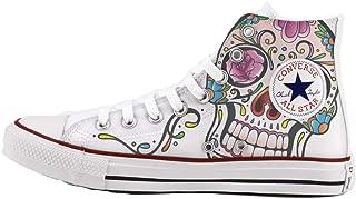 Scarpe Personalizzate Alta - Scarpe Artigianali - Mexican Skull