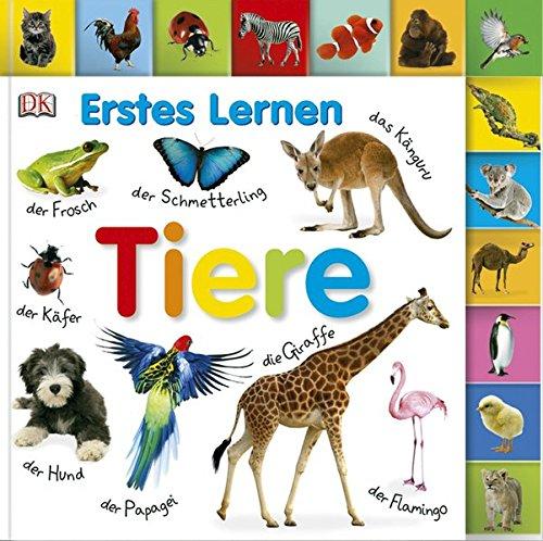 Erstes Lernen. Tiere: Pappbilderbuch mit Griff-Register und über 100 Fotos ab 1 Jahr