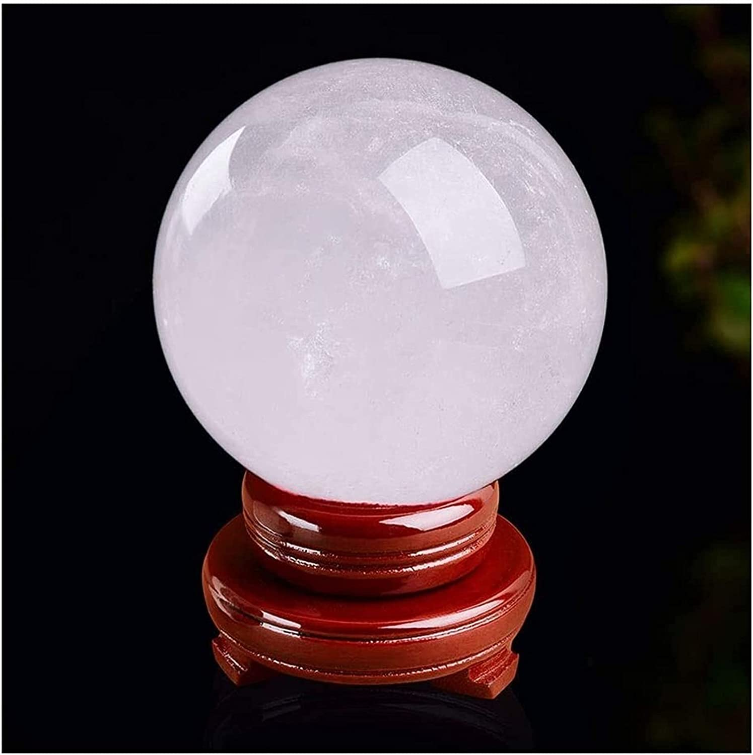 AnimeFiG Crystal Ball Glass Sphere New product type Max 42% OFF White Natural Milky C Cracked