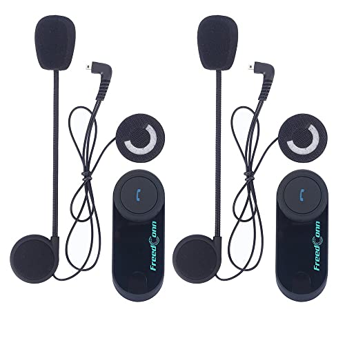 Moto Intercom Système,800m x 2 Pièce FreedConn Casque Intercom Bluetooth Multi Moto Interphone idéal Accessoires de Communication Moto, Ski pour une meilleur Conversation, Connexion avec Téléphone, Mp3, GPS, Talkie Walkie, FM Radio