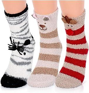 Calcetines Mujer Invierno Lindo Animal Casa Cálidos Calcetines Suaves Cómodos Divertidos Calcetines Termicos Mujer Niña