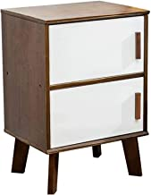 Bedroom Bedside Table Storage Cabinet Wooden Easy to Assemble Nightstand End Table with Storage Cabinet for Living Room Sofa