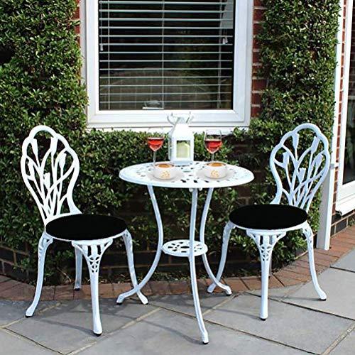 kaige 3 Piezas de Mesa y sillas Conjunto - Resistente a la Intemperie Conservatorio de Muebles - Reparto Conjuntos de Aluminio Patio con los amortiguadores WKY