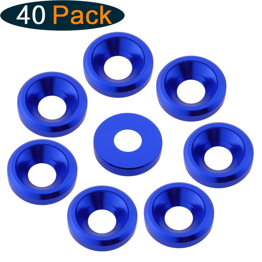 M5 Anodized Aluminum Conical Washers Countersunk Flat Head Screw Bolt Gasket