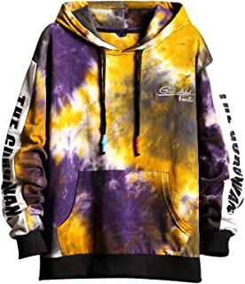 GURUNVANI Unisex Hoodie Mens Contrast Color Hoodies with Big Pockets Pullover Sweatshirt