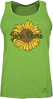 John Deere Sunflower Ladies Tank Top