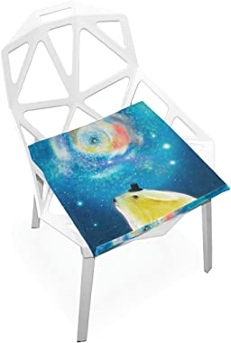 gaopeng Seat Cushion Chair Cushions Covers Set Animals Under The Starry 2 Decorative Indoor Outdoor Velvet Double Printing Design Soft Seat Cushion 16 x 16