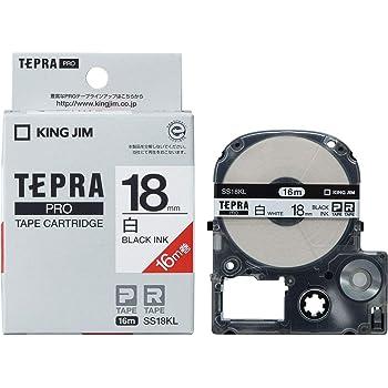 キングジム テープカートリッジ テプラPRO テープカートリッジ SS18KL 白 18mm