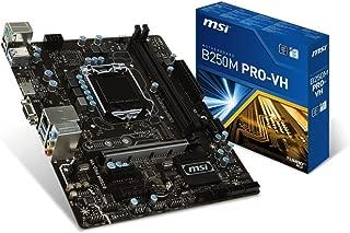 MSI Motherboard B250M PRO-VH Core i3/i5/i7 B250 LGA1151 DDR4 64GB SATA PCI Express USB Micro-ATX Retail