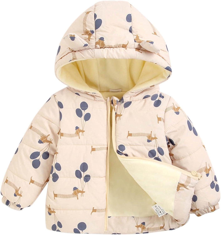 Newborn Infant Toddler Baby Boys Limited 2021 model time cheap sale Carto Zipper Winter Coats Girls
