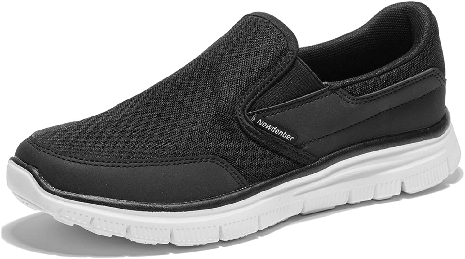 NewDenBer Sport Men's Casual Lightweight Slip-On Sneaker