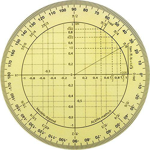 Aleph Winkelmesser, trigonometrische Scheibe, kreisförmig