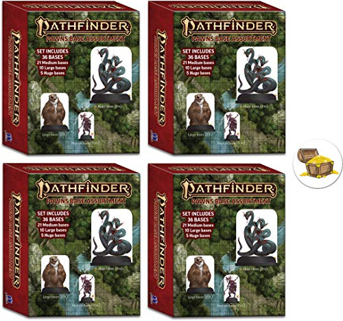 Pathfinder Pawns Bundle of 4 Base Assortments and a Treasure Chest Button