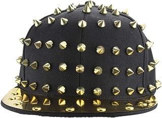 MINAKOLIFE Spike Studded Accessories Punk Hats Adjustable Cap Bright Brim