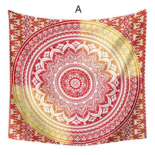 DALIN Bohemian-Wandteppich, Mandala, Hippie, Wandbehang, Strandtuch