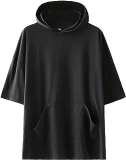 KENAIJING Camiseta, Camiseta con Capucha Deportiva Casual para Hombre y Mujer
