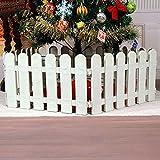 Ieve 4 pcs Blanc Clôture plastique Décoration d'arbre de Noël Surround 4 x longueur 50 cm = 200 cm fête de mariage Décoration miniature Home Garden