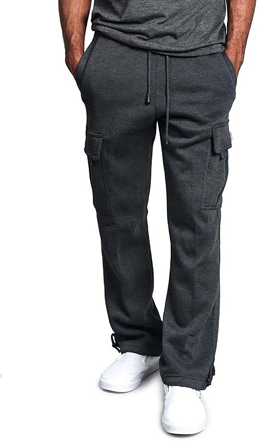 Beshion Mens Cargo Pants Casual Overalls Splicing Work Sweatpants Straight Stretch Loose Trouser Workwear with Multi Pockets